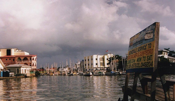 Belize City : Belize City harbour, Belize
